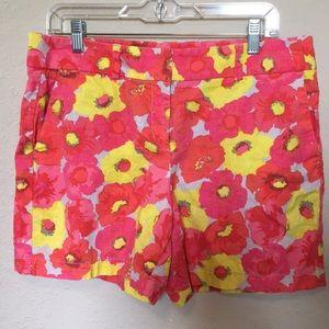 LOFT linen cotton blend shorts floral print. Sz 8